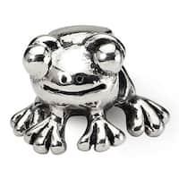 Sterling Silver Reflections Frog Bead (4mm Diameter Hole)