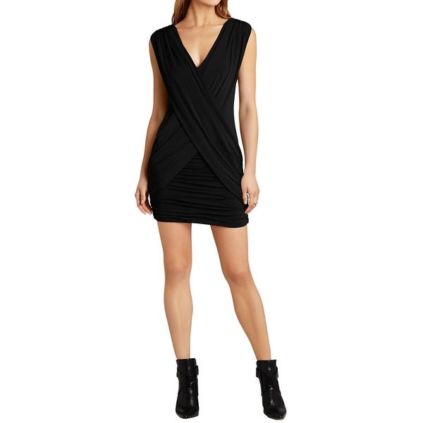 Shop Bcbg Max Azria Womens Alondra Cocktail Dress Knit Sleeveless