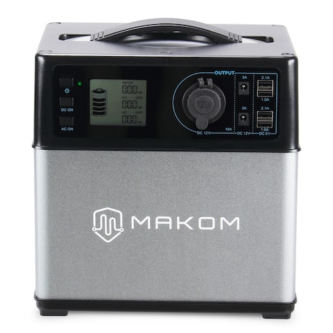 MAKOM Generator Portable Rechargeable Backup Battery with 110V AC Outlet, 12V Car, USB Output Power Supply for Emergency