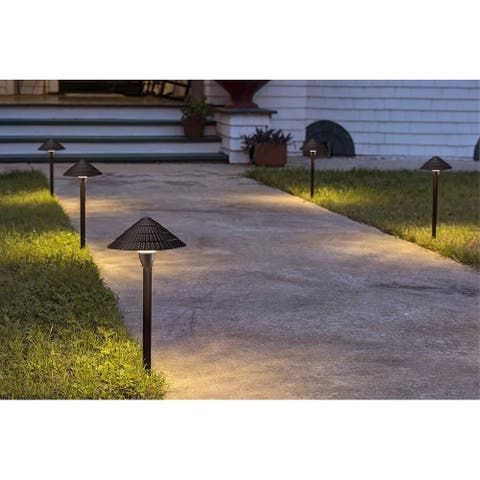 Chaleur 12 Pack LED Pathway Light, Low Voltage, IP65, Aluminum, 3000K Warm White