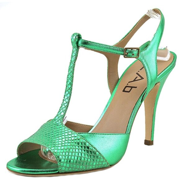 L.A.B Lola Women Open Toe Leather Green Sandals