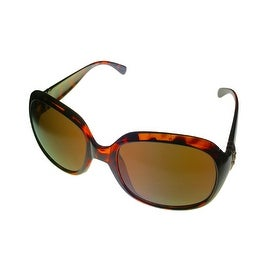 Ellen Tracy Womens Sunglass 513 2 Demi Tortoise Rectangle Plastic, Gradient Lens
