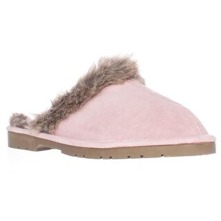 Sporto Jasmine Faux Fur Mule Slippers, Pink