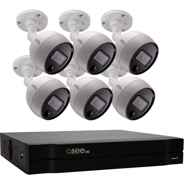Q-see qc998-6gg-2 8ch 4k analog hd dvr with 6