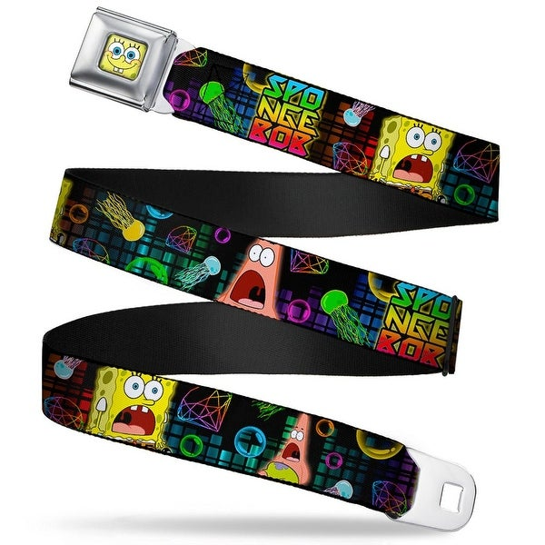 Sponge Bob Face Close Up Surprised SpongeBob & Patrick Starfish SpongeBob Seatbelt Belt