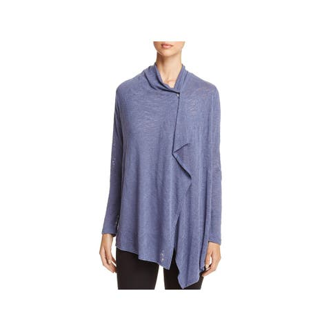 Bobeau Womens Cardigan Sweater 3/4 Sleeve Knit