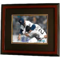 Nolan Ryan signed Texas Rangers Fight 8x10 Photo vs Ventura Steiner Hologram Custom Framed
