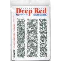 Deep Red Stamps Ornamental Vines Rubber Cling Stamp Set - 4.25 x 5.5