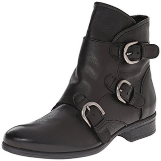 Miz Mooz Womens Sterling Ankle Boots Leather Buckle - 36 medium (b,m)