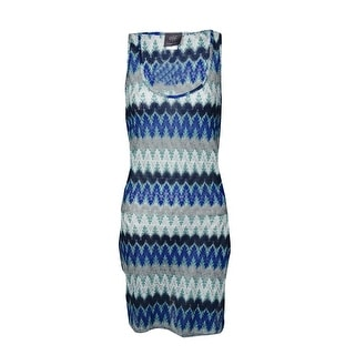 Elif for Jordan Taylor Women's Side Wrap Tank Dress Cover-Up - Cobalt/Navy