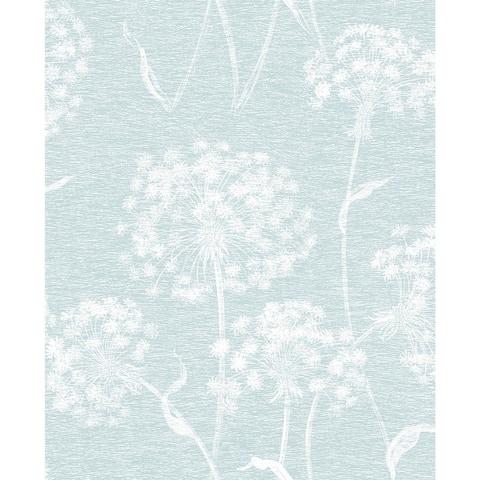 Garvey Light Blue Dandelion Wallpaper - 20.5 x 396 x 0.025