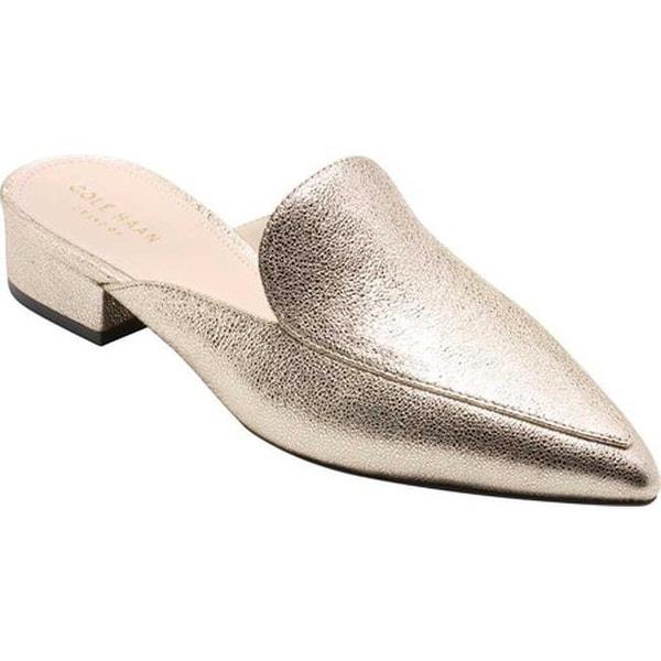 bc11d9d2cb1 Shop Cole Haan Women s Piper Mule Silver Metallic Velvet Glitter ...
