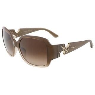 Salvatore Ferragamo SF642S 267 Beige Gradient Oversized Square sunglasses