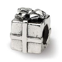 Sterling Silver Reflections Kids Present Bead (4mm Diameter Hole)