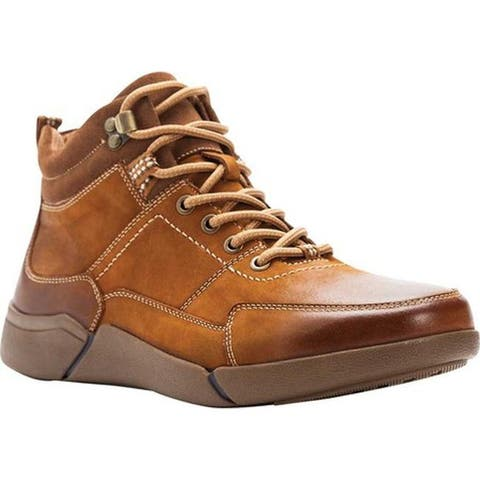 Propet Men's Lance Ankle Boot Brown Waxy Nubuck
