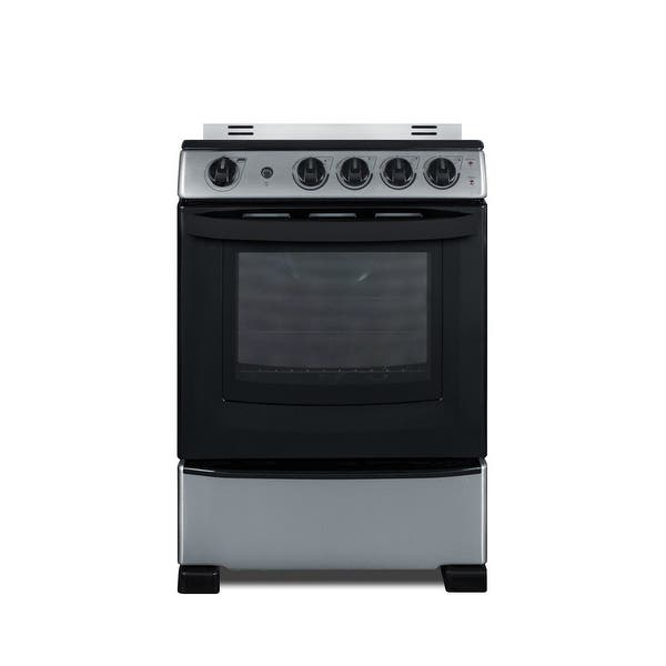 Shop Summit Rex2451rt3 24 Wide 2 9 Cu Ft Free Standing Electric Range Stainless Steel Overstock 30488575