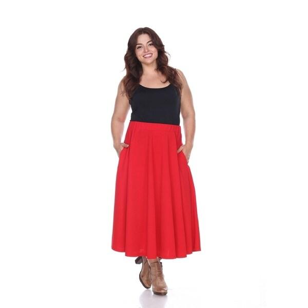 9ed1db06cd Shop Plus Size Tasmin Flare Midi Skirt - Red - On Sale - Free ...