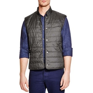 Bloomingdales Charcoal Quilted Puffer Vest Medium M Gillet