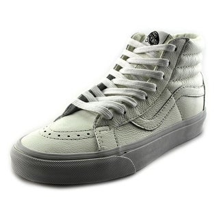 Vans Sk8-Hi Reissue Youth Round Toe Leather White Skate Shoe
