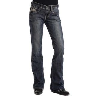 Stetson Western Denim Jeans Womens Candelabra Dark 11-054-0816-0480 BU