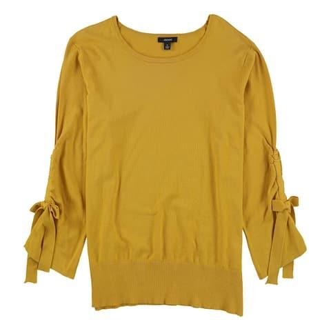 Alfani Womens Bow Sleeve Pullover Sweater