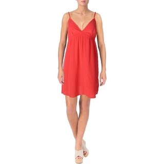 Aqua Womens Slip Dress Silk Cami