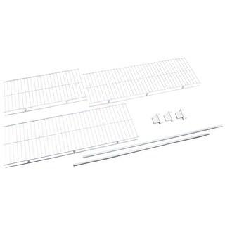 """Rubbermaid 3D4900  96"""" Long Wire Shelf Kit - White"""