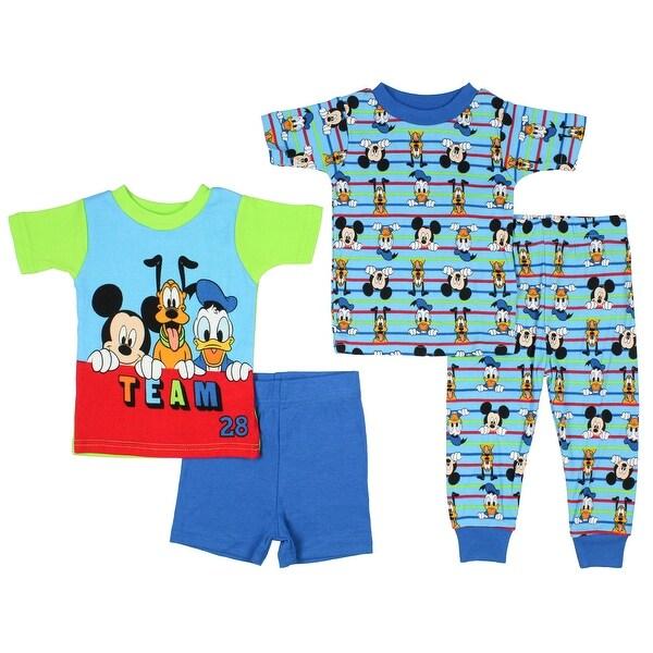 Disney Junior Baby Boys' Team 28 Mickey Mouse Donald Pluto 2 Cotton Pajama Sets. Opens flyout.