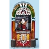 Amusements Musical Animated Santa & Reindeer in Lighted Christmas Jukebox - multi