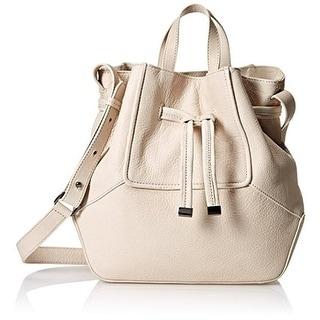 Kooba Womens Anna Leather Crossbody Hobo Handbag - Stone - Large