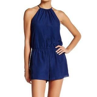 Parker NEW Solid Blue Women's Size Large L Pamela Halter Romper