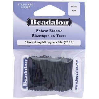 Beadalon - Fabric Elastic Cord - Black - 1mm
