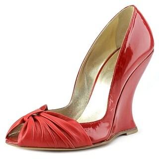 Gilu 4510 Open Toe Patent Leather Wedge Heel