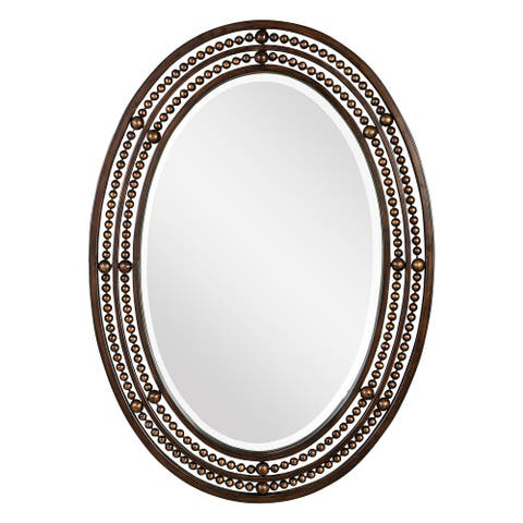 Oil Rubbed Bronze Oval Beveled Mirror