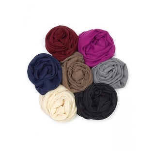 Uni Style Apparel Luxury Viscose Soft and Lightweight Infinity Style Solid Scarf 12 Pack