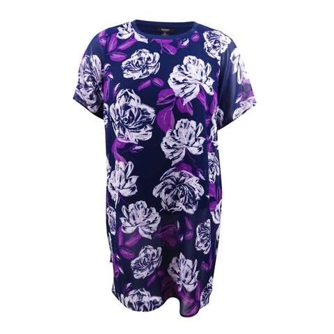 Alfani Women's Plus Size Floral-Print Tunic - Beautiful Bouquet Combo