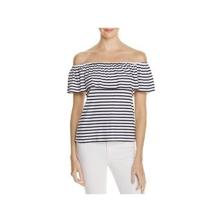 Splendid Womens Pullover Top Striped Off The Shoulder - s