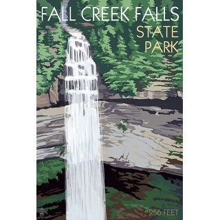Fall Creek Falls State Park, TN - LP Artwork (100% Cotton Tote Bag - Reusable)