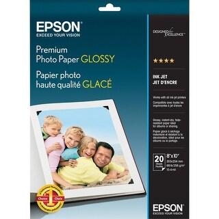 Epson Premium Photo Paper Glossy (8x10 Inches, 20 Sheets) (S041465) - White