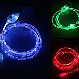 "Micro USB ""Visible Current Flow"" Light Up Charger Cable (3 options available)"