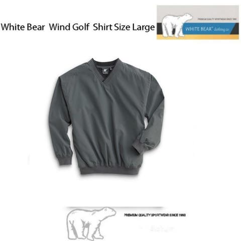 White Bear Golf Wind Shirt (Large), Charcoal