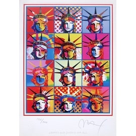 Liberty & Justice for All, Ltd Ed Lithograph, Peter Max