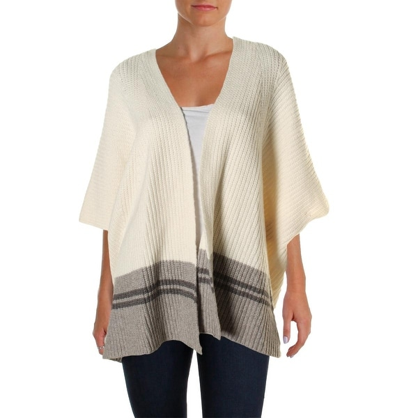 Vince Camuto Womens Cardigan Sweater Knit Colorblock