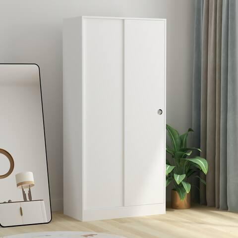 4-Tier Double slip door Amoires Wardrobe Cabinet