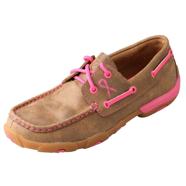 Twisted X Casual Shoes Womens Driving Mocs Bomber Neon Pink