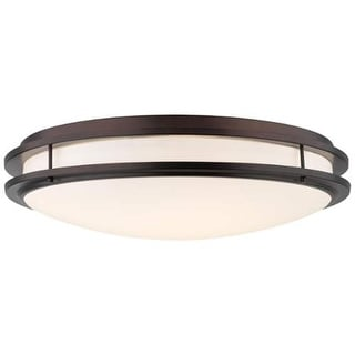 "Forecast Lighting F245870U 2 Light 24"" Wide Flush Mount Ceiling Fixture from the Cambridge Collection - merlot bronze"