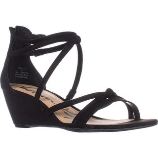 AR35 Calla Strappy Wedge Sandals, Black