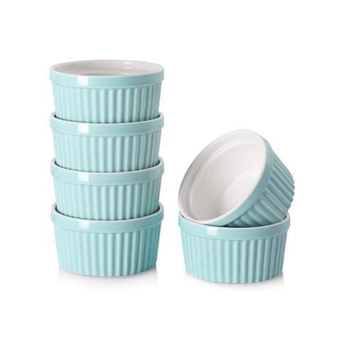 DOWAN 4 oz. Ceramic Round Ramekins