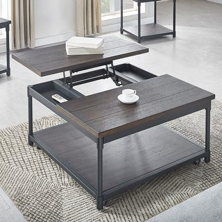 Carbon Loft Pattison Lift-Top Square Coffee Table