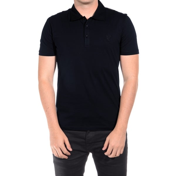 Versace Men's Cotton Medusa Polo Navy